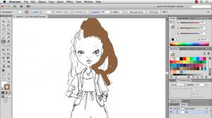 filling hand drawn fashion sketches in illustrator blog