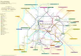Metro Paris Map by