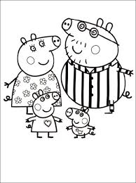 free peppa pig colouring pages kids printable cartoon coloring