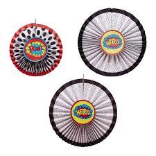 Pinwheel Decorations Hanging Pinwheel Decorations Comic Superhero Ginger Ray