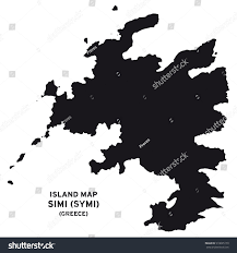 Greece Map Outline by Island Map Simi Symi Greece Stock Vector 510695179 Shutterstock