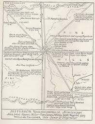 County Map Of Mississippi Faulkner U0027s Worlds Oxford And Yoknapatawpha