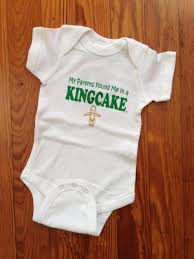mardi gras onesie husband pregnancy reveal for when the time comes weddingbee