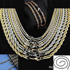 chain necklace cheap images Stainless steel chains 5mm gold twist chain necklaces for men jpg