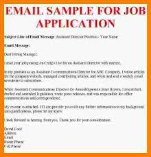 9 sample emails for job application agile resume