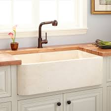 marble apron front sink signature hardware