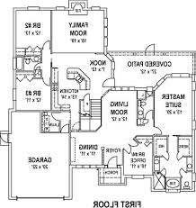 rectangular house floor plans design mid century modern simple