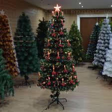 6ft pre lit fibre optic tree prelit decoration
