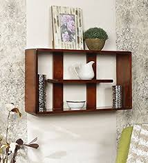 Wall Shelves Amazon by Onlineshoppee Wooden Handicraft Multiple Compartments Designer