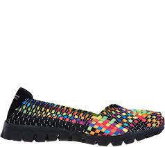 skechers stretch woven slip on shoes w memory foam delphi