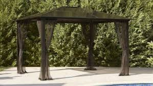 Metal Pergola With Canopy by Fascinating Curtains Top Lowes Pergola And White Cushions Sofa
