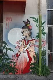 dragon school murals in oakland chinatown street art sf lina savage street art murals at dragon school in oakland chinatown