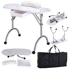 manicure nail table portable station desk nail care cosmetics