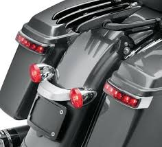 harley davidson lights accessories electra glo led saddlebag run brake turn l chrome housing