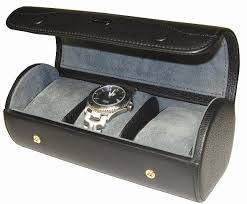 watch travel case images Triple watch storage case travel case in black leather jpg