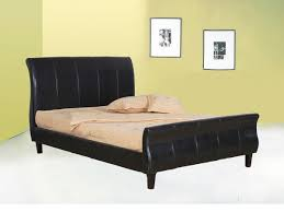 Double Faux Leather Bed Frame by Double King Bed Interiors Design