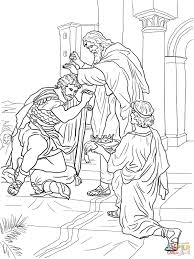 david crowned king coloring free printable coloring pages