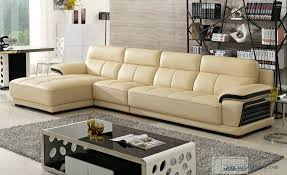 Modern Leather Sofa With Chaise 2014 European Modern Leather Sectional Sofa Chaise Lounge 2019
