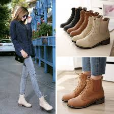 womens boots philippines beige brown black toe crossed strappy chunky heels combat
