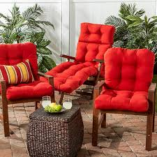 Outdoor High Back Chair Cushions Clearance Amazon Com Greendale Home Fashions Indoor Outdoor Seat Back Chair