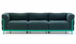 cassina canapé canapé contemporain en tissu en cuir par perriand lc2