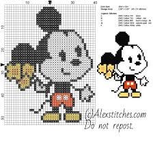 Disney Pumpkin Carving Patterns Mickey Mouse by Mickey Mouse Disney Cuties Free Cross Stitch Pattern 40x53 5