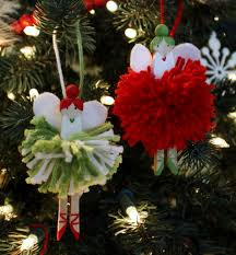 just what i squeeze in pom pom fairies for the tree