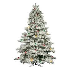 flocked tree flocked christmas trees you ll wayfair