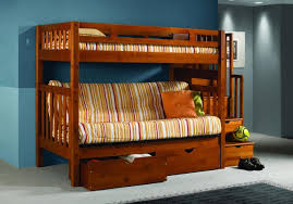 Futon Bunk Bed Plans by Wooden Futon Bunk Bed With Stair A Futon Bunk Bed Is A Great