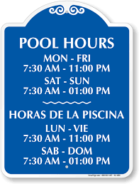pool hour signs make your pool policies known