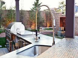 bed u0026 bath outdoor kitchen with undermount kitchen sink and slate