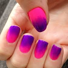 nails this week pink u0026 purple ombre nails for nickels
