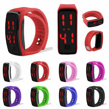 digital bracelet led watches images Wholesale new fashion sport led watches men women silicone rubber jpg