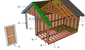 8x16 shed with porch roof plans howtospecialist how to build