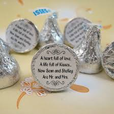 chagne wedding favors hershey kisses label sticker change labels to sayings
