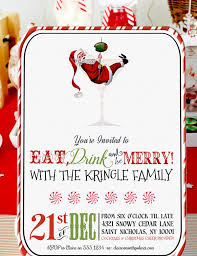 christmas cocktail party retro santa christmas cocktail party invitation