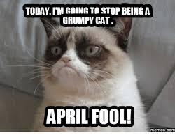 Funny April Fools Memes - today im rnimrtn stopbeinga grumpy cat april fool memes com april