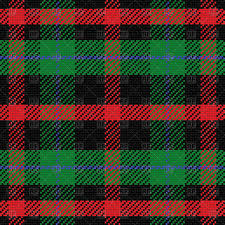 scottish tartan pattern seamless background vector clipart image