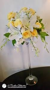 wedding flowers montreal wedding flower centerpiece white yellow roses white lilies