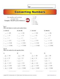 converting numbers place value worksheets for 5th grade
