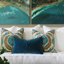peacock blue living room art design ideas