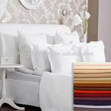 Luxury White Bed Linen - luxury white cotton satin bed sheet set duvet cover hotel bed