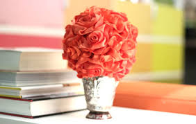 Paper Rose Topiary - floral arrangements u2013 jonathan fong style