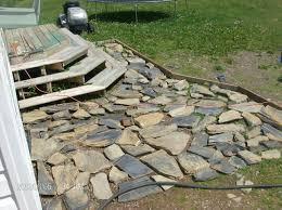 How To Lay Flagstone Patio How To Lay Stone Patio Great As Patio Umbrellas On Flagstone Patio
