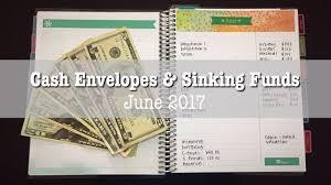 budget envelopes sinking funds june 2017