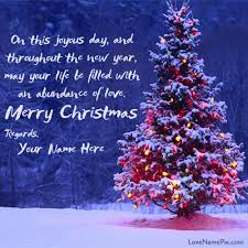 write any name on beautiful merry wishes quotes image and