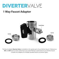 Kitchen Faucet Diverter Express Water Undersink Chrome 1 Way Faucet Adapter Diverter Valve