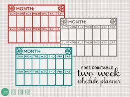 Diy Planner Template Diy Two Week Schedule Desk Planner A Free Printable Minted