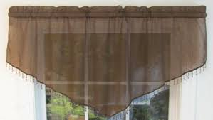 evelyn crinkled voile ascot valance clearance