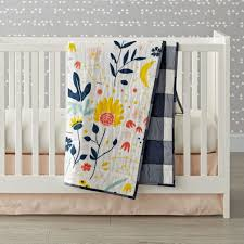 Yellow And Gray Crib Bedding by Genevieve Gorder Floral Crib Bedding The Land Of Nod